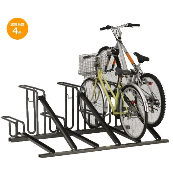 ダイケン 自転車ラック サイクルスタンド KS-D284 4台用送料込!【代引・同梱・ラッピング不可】