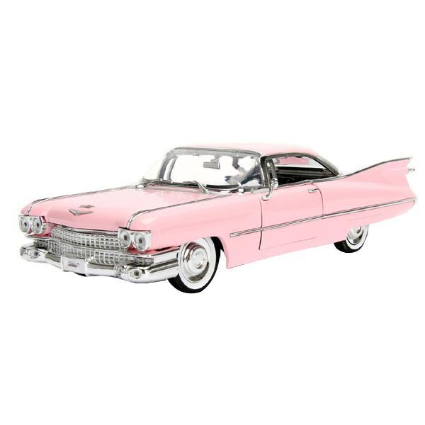 正規輸入品 Jada TOYS ミニカー 1:24 1959 Pink Cadillac Deville-Pink 19890送料込!【代引・同梱・ラッピング不可】