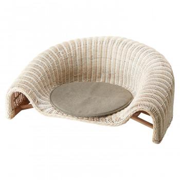 HOMEDAY 座椅子 WHW(ホワイトウォッシュ) RA-802送料込!【代引・同梱・ラッピング不可】  【北海道・離島・沖縄は送料別】