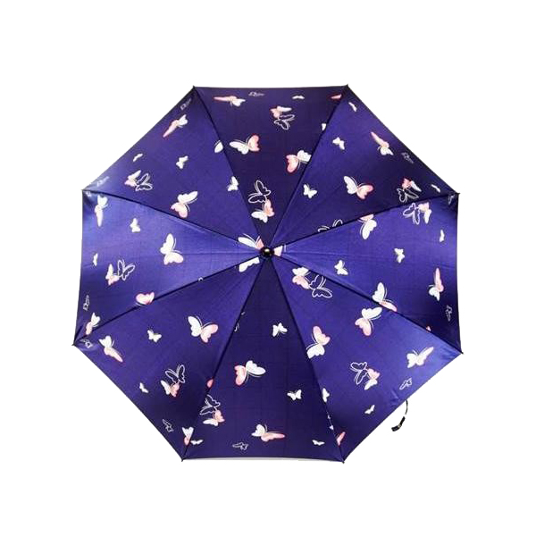 日本の職人手作り 蝶二段式折りたたみ傘 紺(ネイビー) CMM102A送料込!【代引・同梱・ラッピング不可】