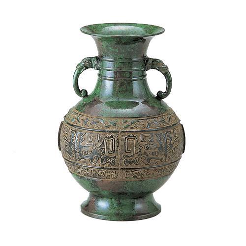 高岡銅器 銅製花瓶 正ダルマ 筋入 8号 99-06