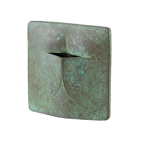 高岡銅器 銅製花瓶 馬場忠寛作 堰(せき) 100-02