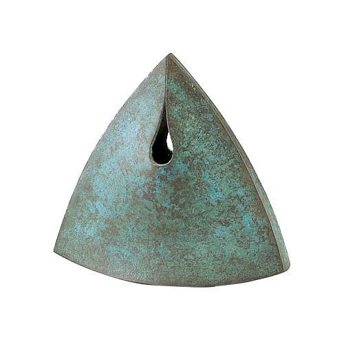 高岡銅器 銅製花瓶 馬場忠寛作 炎(ほのを) 100-03