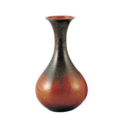 高岡銅器 銅製花瓶 新ダルマ レッド 103-08