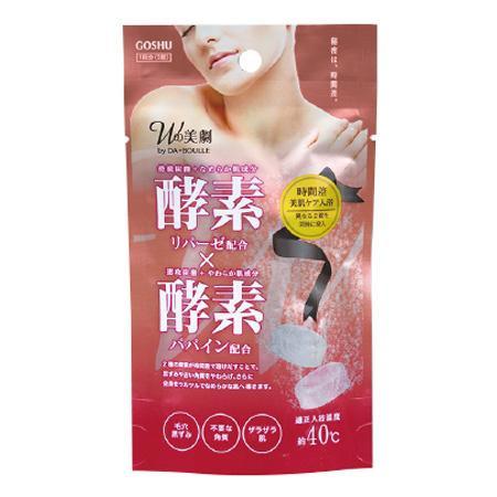 溶ける速度の違いが生み出す、美肌へのアプローチ 五洲薬品 入浴用化粧品 Wの美劇 酵素酵素 ((25g×2錠)×10袋)×8箱(80袋入り) DB-KK【代引・同梱・ラッピング不可】