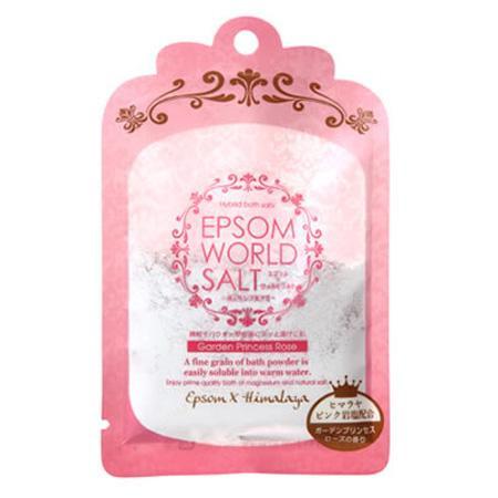 五洲薬品 入浴用化粧品 エプソムワールドソルト ガーデンプリンセスローズの香り (50g×10袋)×12箱(120袋入り) EWS-PK【代引・同梱・ラッピング不可】