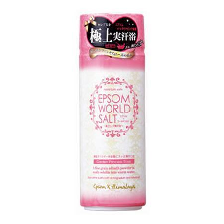 五洲薬品 入浴用化粧品 エプソムワールドソルト ガーデンプリンセスローズの香り 500g×12本 EWS-PK20【代引・同梱・ラッピング不可】