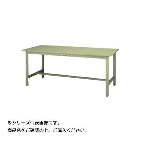 SWSH-1575-GG+D1-G ワークテーブル 300シリーズ 固定(H900mm)(1段(深型W500mm)キャビネット付き)送料込!【代引・同梱・ラッピング不可】