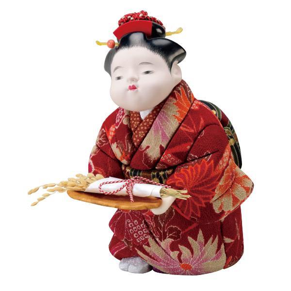 01-723 木目込み人形 豊作祝い 完成品