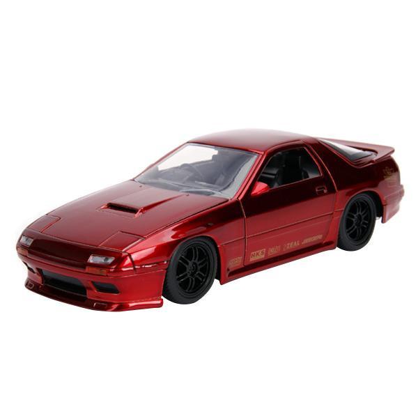 正規輸入品 Jada TOYS ミニカー 1:24 JDM 1985 Mazda RX-7 FC Candy Red 19948送料込!【代引・同梱・ラッピング不可】