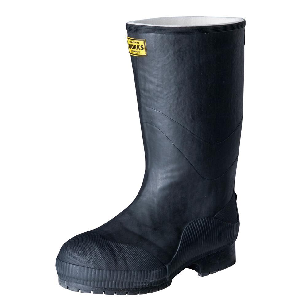 弘進ゴム 長靴(ゴム製) ライトセーフティーワークス LSW-02 黒 25.0cm A0020AC