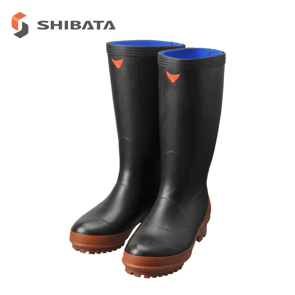SHIBATA シバタ工業 防寒長靴 NC020 スポンジ大長9型 ブラック 25.5センチ