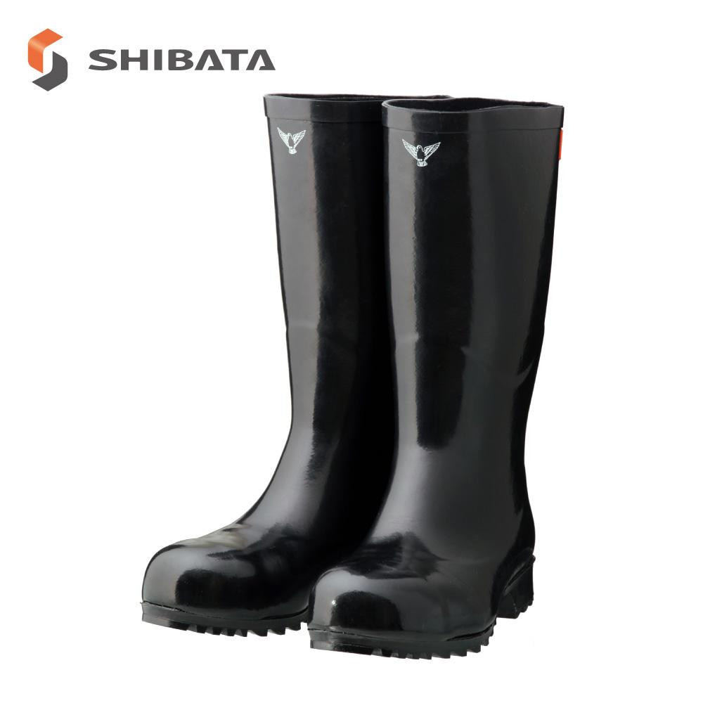 SHIBATA シバタ工業 安全長靴 AB021 安全大長 ブラック 26センチ