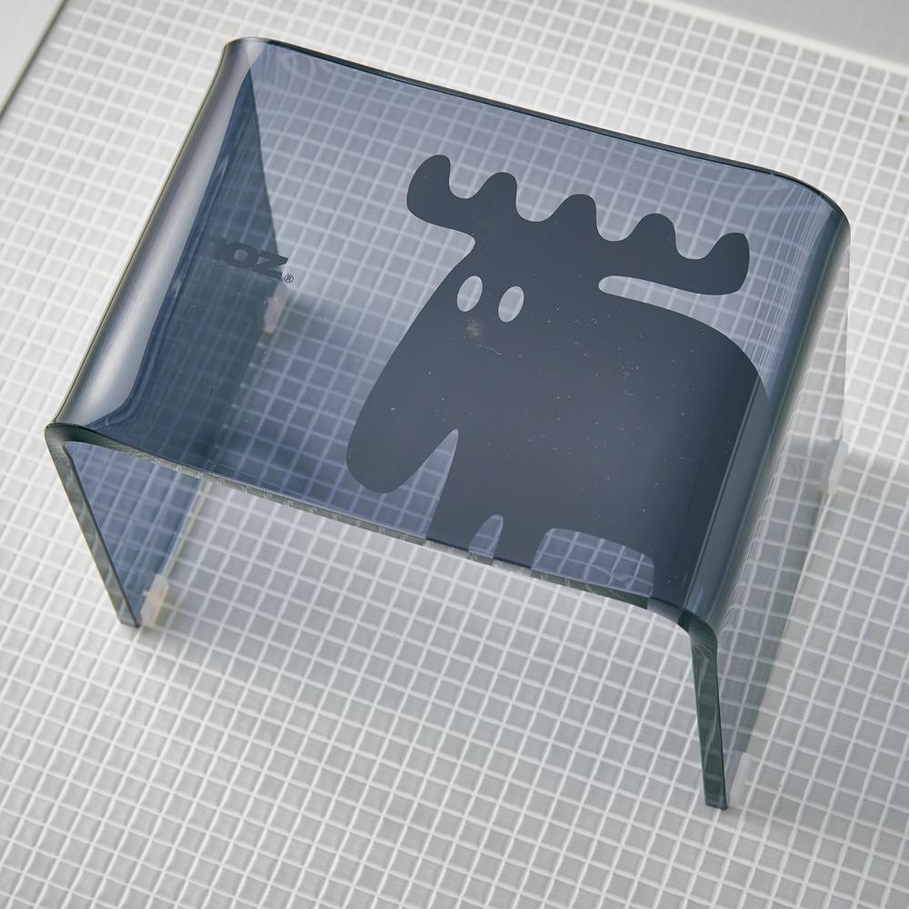 moz(モズ) アクリル製バスチェア ブラック EF-UB03BK