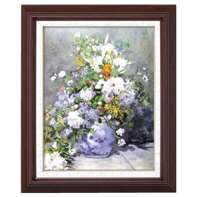 ルノワール名画額F6「花瓶の花」