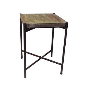 カントリー調 サイドテーブル ランプテーブル 正方形 1408BAH013送料込!【代引・同梱・ラッピング不可】