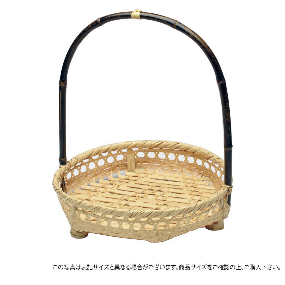 萬洋 黒竹手提げオードブル(小)φ36 21-940S