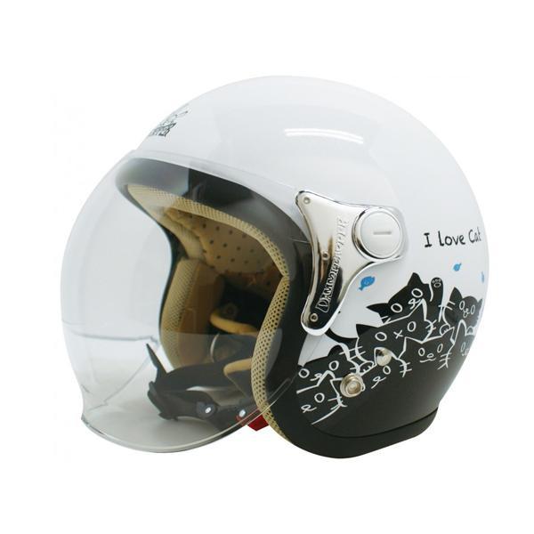 ダムトラックス(DAMMTRAX) カリーナ ヘルメット WHITE/CAT