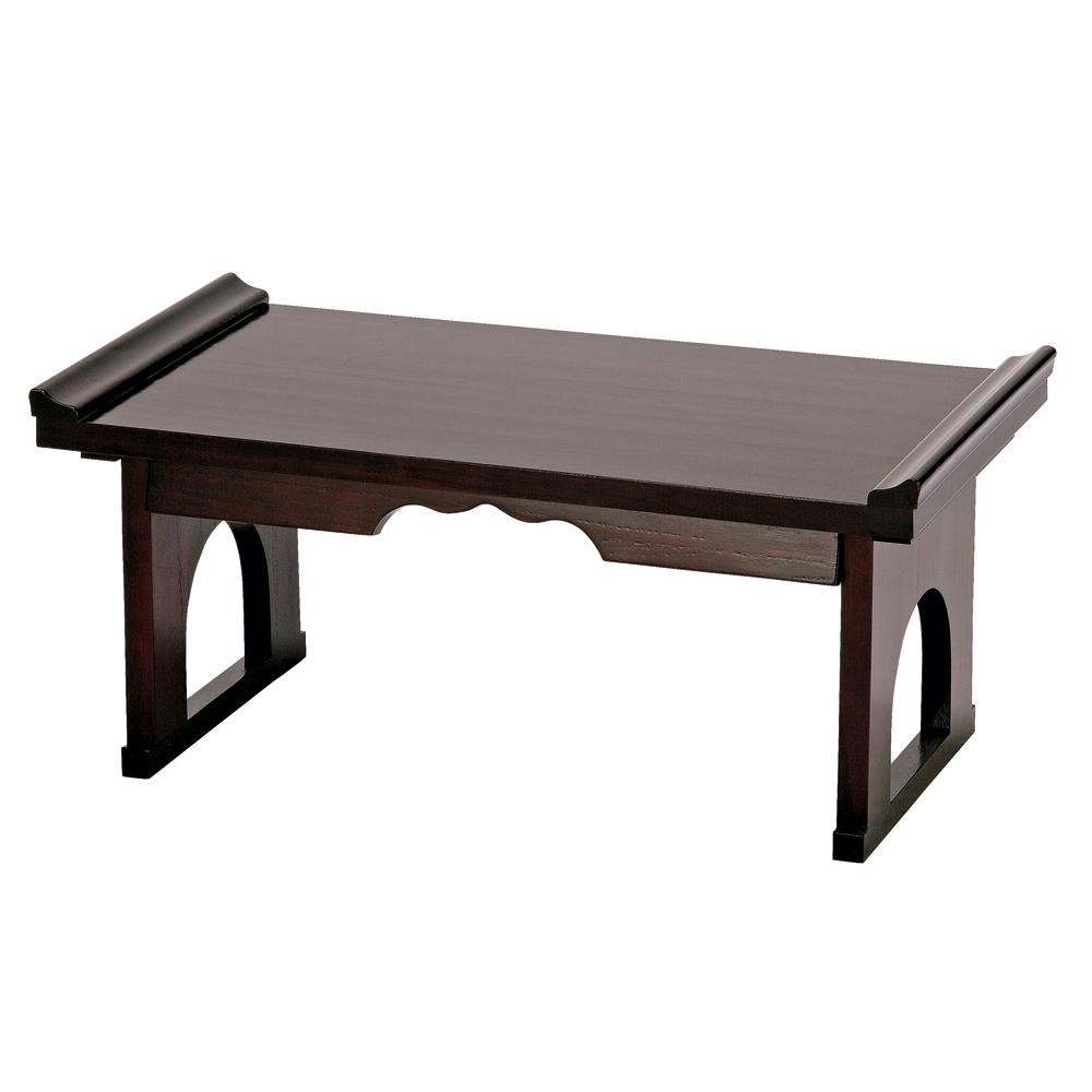 木製折り畳み机 ブラウン FLD-60 BR【代引・同梱・ラッピング不可】