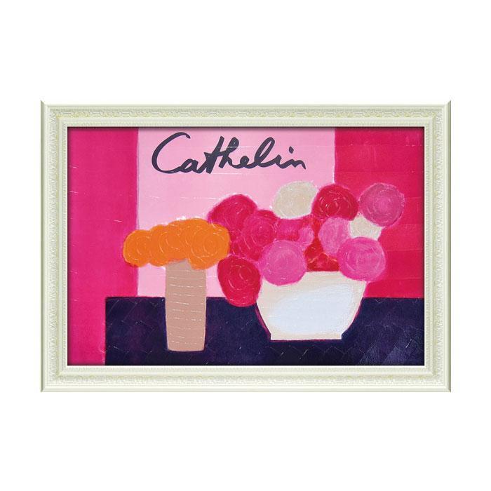 ユーパワー アートフレーム ベルナール カトラン「ピンクの背景の花束」 BC-18051【代引・同梱・ラッピング不可】