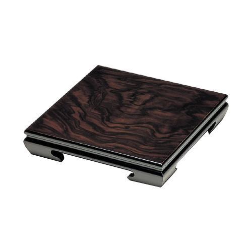 高岡銅器 木製飾台 正角 8号 黒檀色 60-07