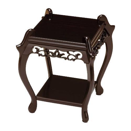 高岡銅器 木製飾台 ミニ中卓 黒檀色 61-08
