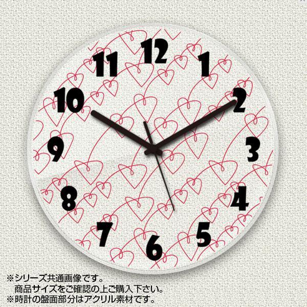 MYCLO(マイクロ) 壁掛け時計 アクリル素材(クリア) 丸型 23cm ハート com696