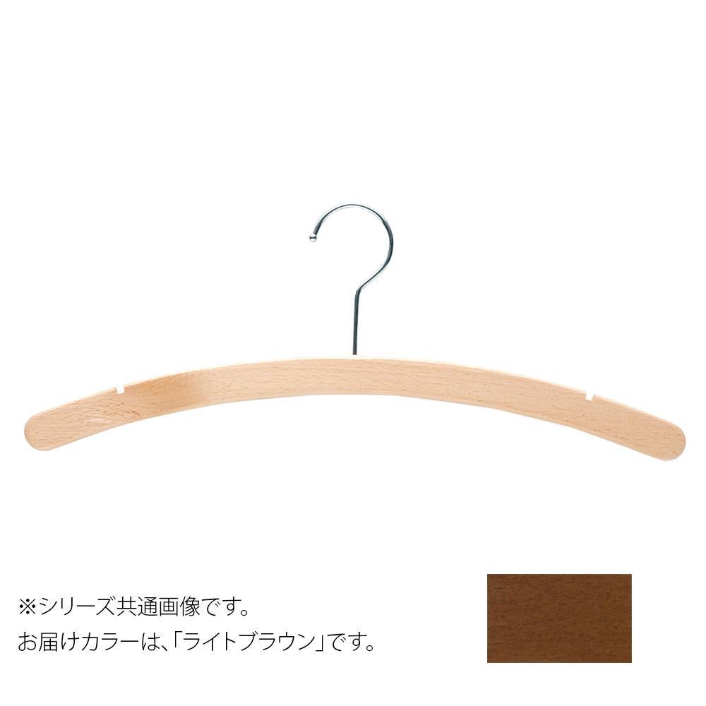日本製 木製ハンガーレディス用 ライトブラウン 5本セット T-1356 肩幅38cm×肩厚1.5cm【代引・同梱・ラッピング不可】