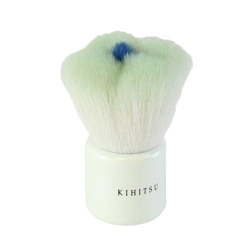 喜筆 KIHITSU 熊野筆 フラワーパウダーブラシ(グリーン/ホワイト) G-06