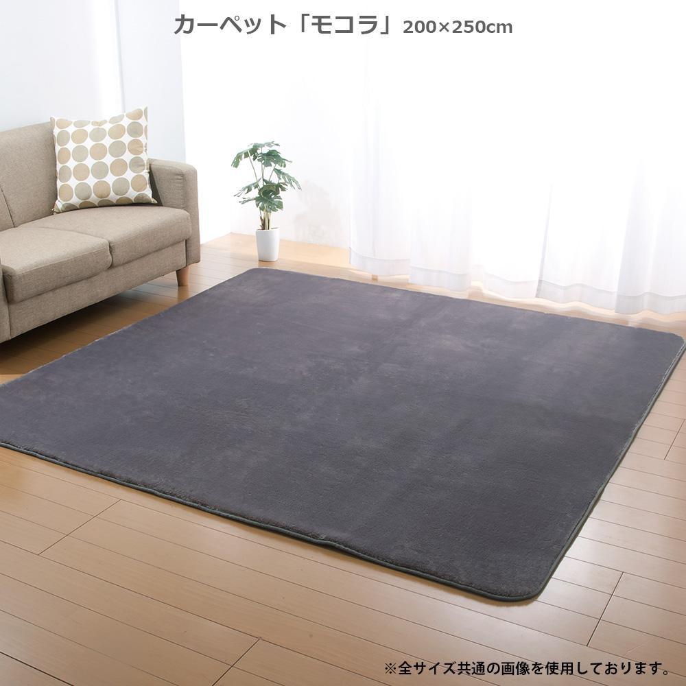 カーペット 「モコラ」 200×250cm グレー FIN-746LGY【代引・同梱・ラッピング不可】