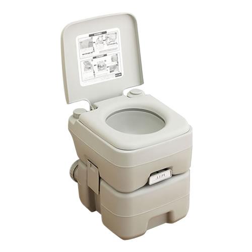 本格派ポータブル水洗トイレ 20L【代引・同梱・ラッピング不可】