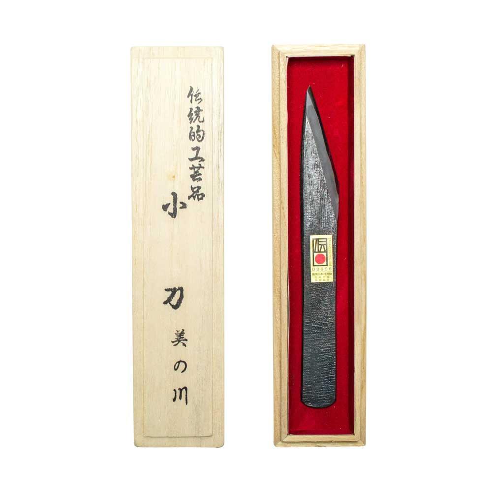 三木章刃物本舗 伝統工芸品 手打ち切出し小刀 美の川(左) 530660