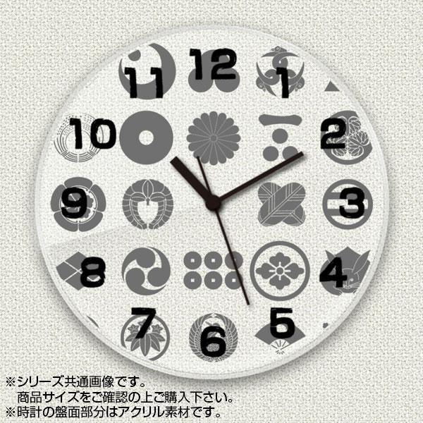 MYCLO(マイクロ) 壁掛け時計 アクリル素材(クリア) 丸型 16cm 和風デザイン 家紋 com129