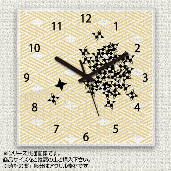 MYCLO(マイクロ) 壁掛け時計 アクリル素材(クリア) 四角 30cm 和風デザイン 手裏剣 com287