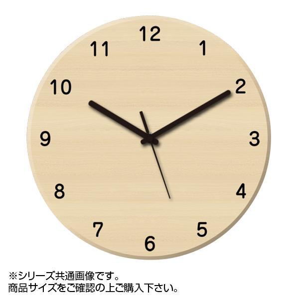 MYCLO(マイクロ) 壁掛け時計 ウッド素材(メープル) 丸型 23cm 木製時計 com402