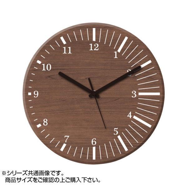 MYCLO(マイクロ) 壁掛け時計 ウッド素材(ウォールナット) 丸型 23cm 木製時計 com436