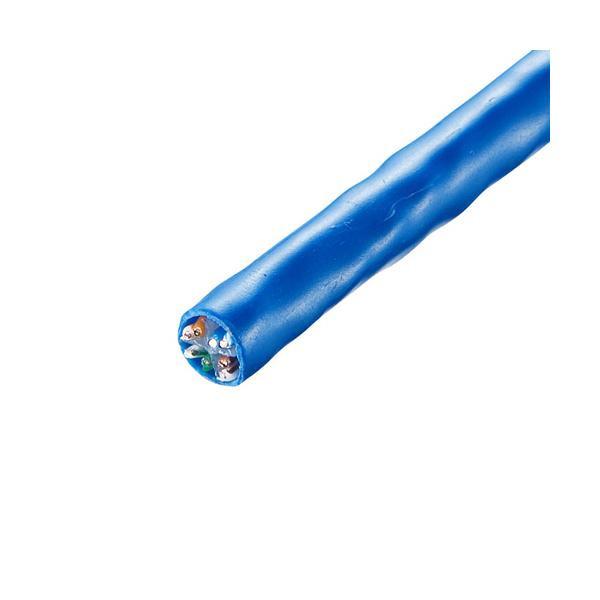 サンワサプライ CAT6UTP単線ケーブルのみ 100m KB-C6L-CB100BL