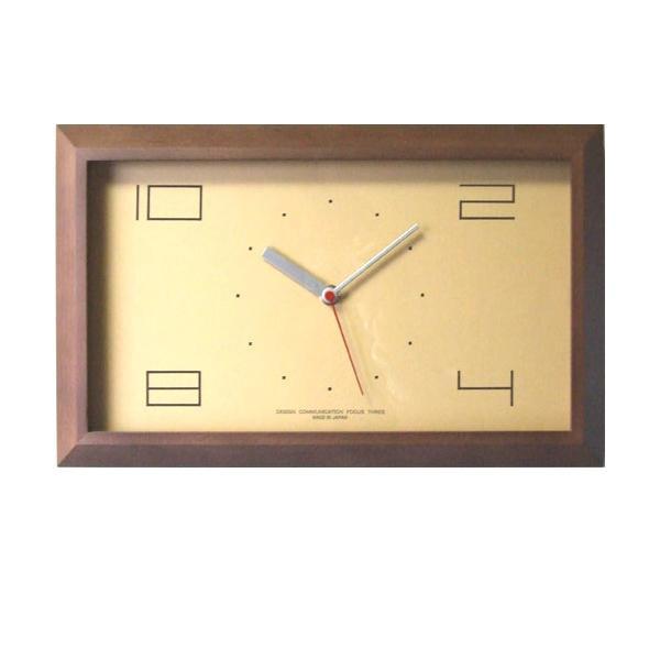 黄金比の時計 電波時計 ブラウン V-0003