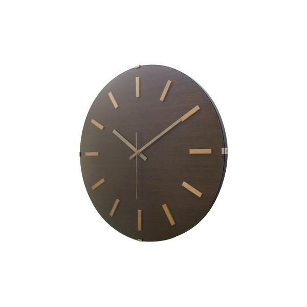 ドームバークロック 電波時計 ブラウン V-065