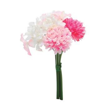 アーティフィシャルフラワー ポンポンバンドル ピンク 24束セット T0162 アレンジメント送料込!【代引・同梱・ラッピング不可】