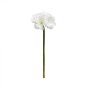 アーティフィシャルフラワー キングアマリリス ホワイト 6本セット P4616 アレンジメント送料込!【代引・同梱・ラッピング不可】