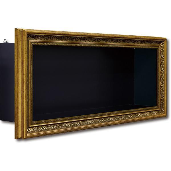 ユーパワー Stylish Art ミュージアム シェルフ ロング(L) ゴールド MS-08502【代引・同梱・ラッピング不可】