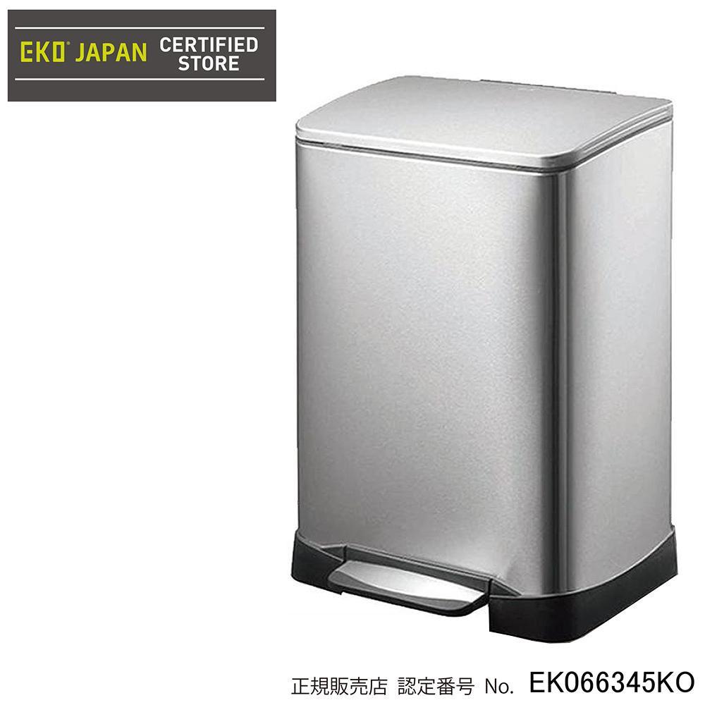EKO(イーケーオー) ステンレス製ゴミ箱(ダストボックス) ネオキューブ ステップビン 40L シルバー EK9298MT-40L