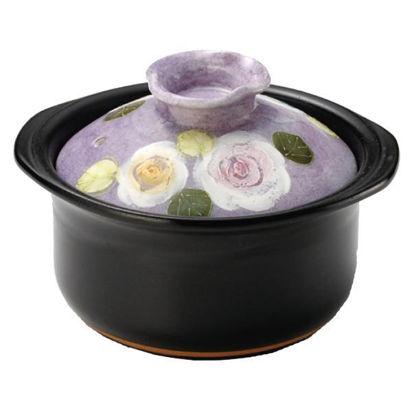 カーボン発熱体IH専用 彩バラ化粧 2合炊きご飯鍋 15141
