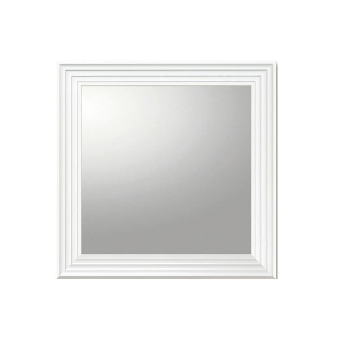 ユーパワー デコラティブ 大型ミラー シャープ 正方形(ホワイト) BM-16022【代引・同梱・ラッピング不可】