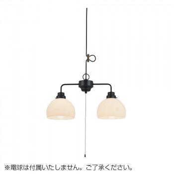 ペンダントライト 鉄鉢硝子 セード 2灯用CP型BK (電球なし) GLF-3501BKX送料込!【代引・同梱・ラッピング不可】