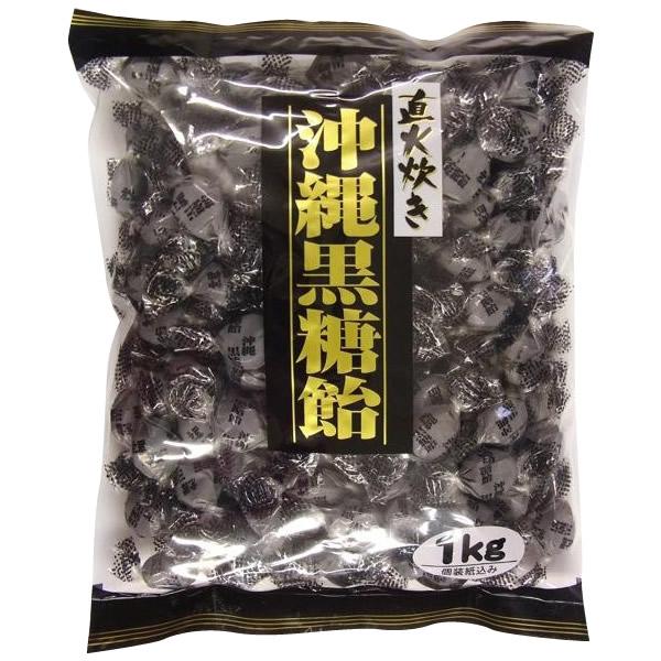 桃太郎製菓 直火炊き 沖縄黒糖飴 1kg×10袋セット送料込!【代引・同梱・ラッピング不可】