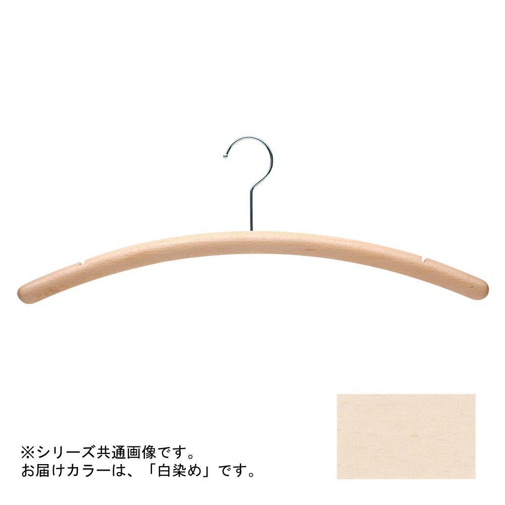 日本製 木製ハンガーメンズ用 白染め 5本セット T-4250 肩幅50cm×肩厚2.5cm