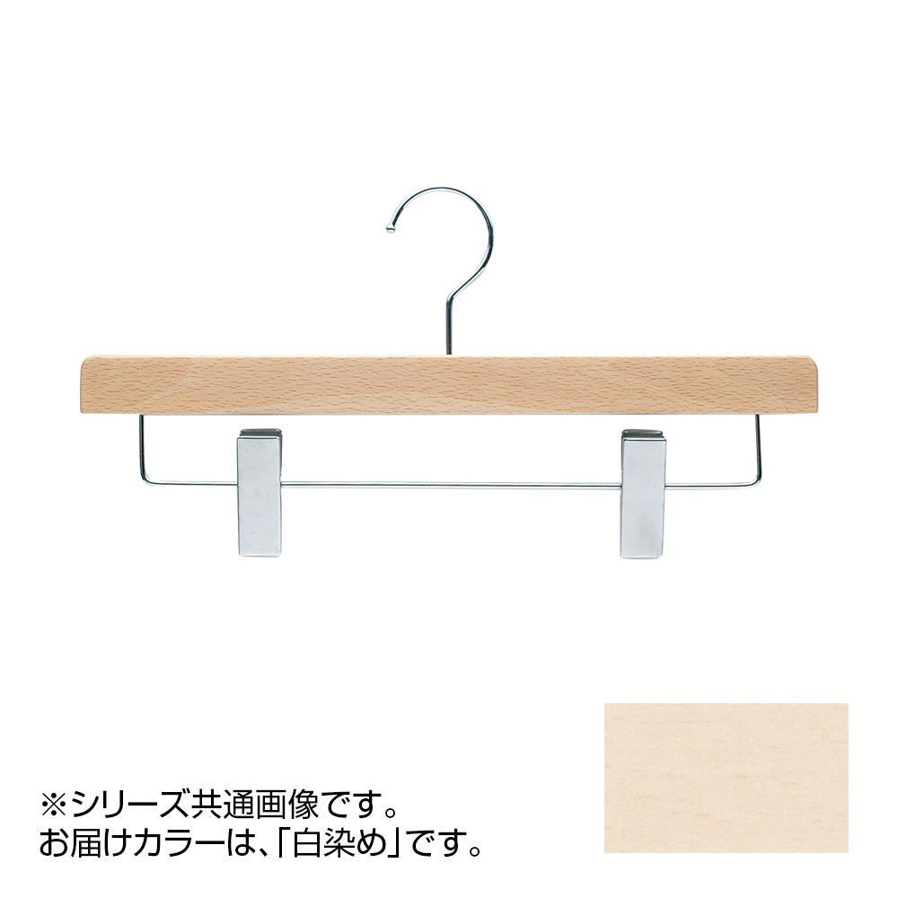 日本製 木製ハンガーボトム用 幅36cm 白染め 5本セット T-5600【代引・同梱・ラッピング不可】