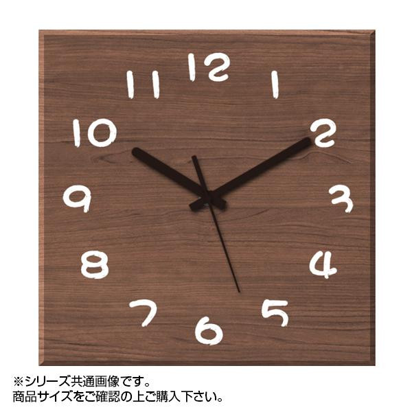 MYCLO(マイクロ) 壁掛け時計 ウッド素材(ウォールナット) 四角 30cm 木製時計 com441